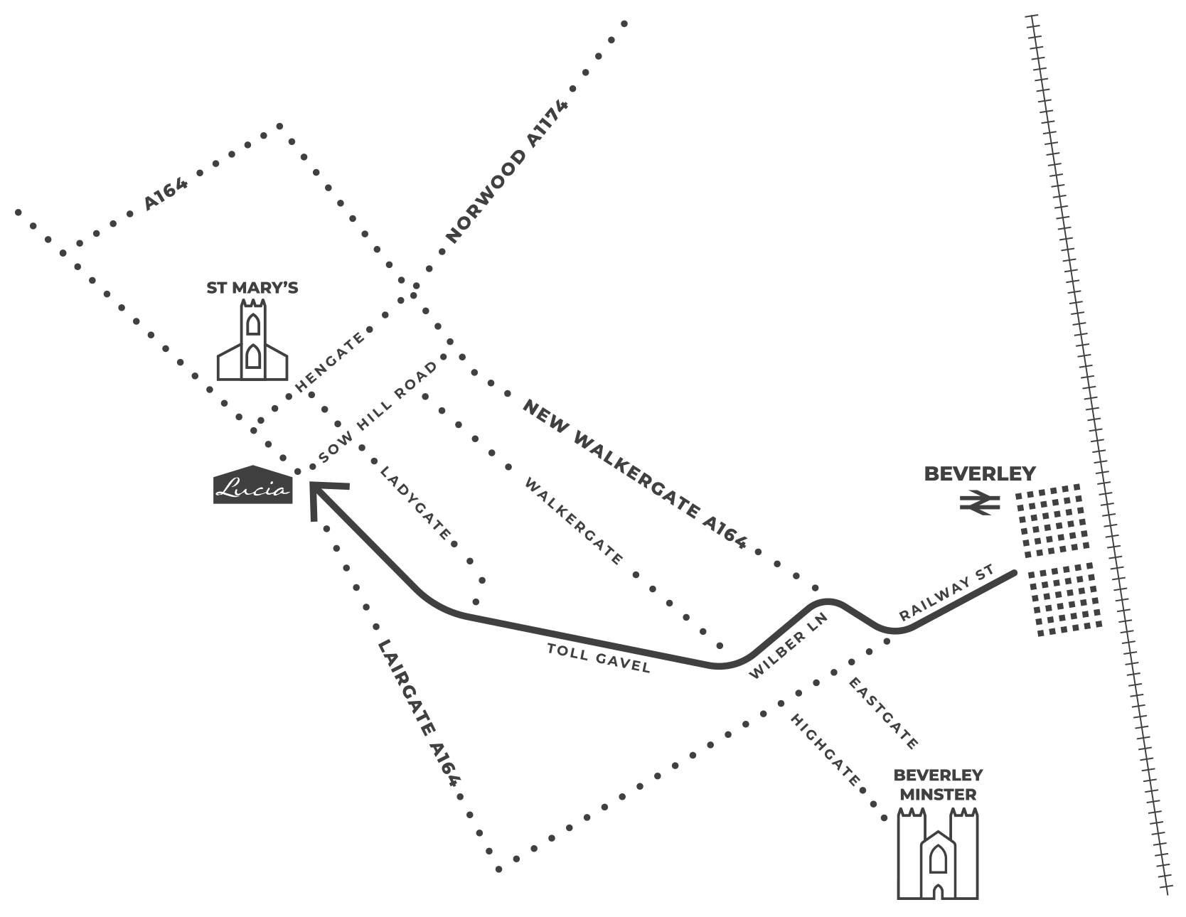 Lucia Beverley Map