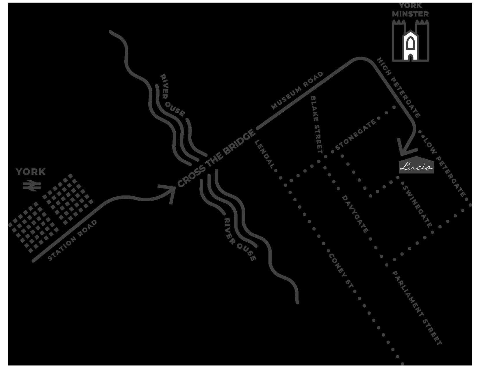 Lucia York Map